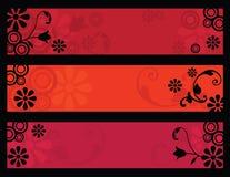 Retro flower banners Stock Image