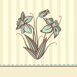 Retro flower card Royalty Free Stock Images