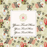 Retro flower card. Vector drawing Royalty Free Stock Image