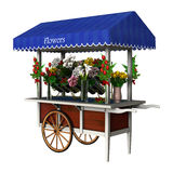 Retro Flower Cart Stock Image