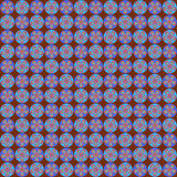Retro Flower on Chocolate Seamless Pattern. Soft light and dark blue rosette seamless pattern set against a chocolate background Royalty Free Stock Image