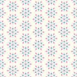 Retro Flower and Circle Seamless Pattern on Pastel Background Royalty Free Stock Image
