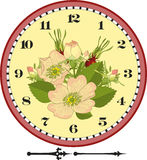 Retro Flower Clock Dial Stock Photo