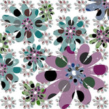 Retro Flower Design. Retro Flower Background for Designs and Scrapbooking Royalty Free Stock Photo