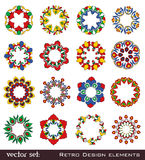 Retro flower elements for design Royalty Free Stock Images