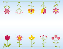Retro Flower frame Stock Photography
