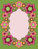 Retro Flower Frame_Green Stock Image