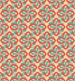Retro flower geometric seamless pattern ornament Stock Image