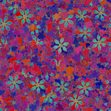 Retro flower and leaf fabric Royalty Free Stock Images