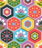 Retro flower pattern Royalty Free Stock Photo