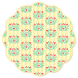Retro flower round napkin Stock Image