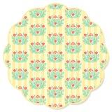 Retro flower round napkin Stock Image