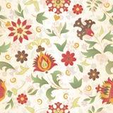 Retro flower seamless Stock Image