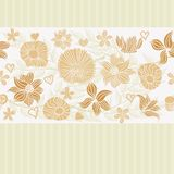 Retro flower seamless background in vector. Seamless retro floral background pattern in vector Royalty Free Stock Photography