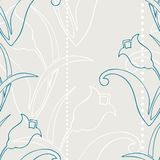 Retro flower seamless pattern Royalty Free Stock Photography
