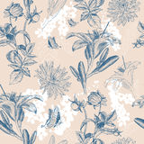 Retro flower vector illustration Royalty Free Stock Photo