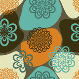 Retro Flowers Royalty Free Stock Images