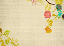 Retro flowers. Illustration of flowers on vintage paper Royalty Free Stock Photography
