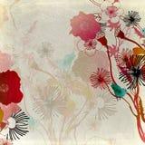 Retro flowers Stock Images