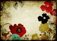 Retro flowers. Illustration of flowers on vintage paper Royalty Free Stock Photo