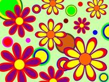 Retro Flowers Royalty Free Stock Image