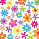 Retro flowers. Multicolored  flowers in retro style and colors Stock Image