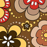 Retro flowers Stock Images