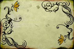 Retro flowers. Illustration of flowers on vintage paper Royalty Free Stock Photos