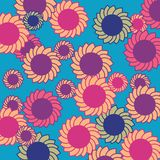 Retro flowers background Stock Photo
