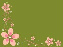 Retro Flowers Background Stock Photography