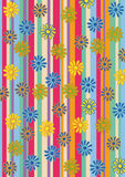 Retro Flowers Background Artwork Design Stock Images