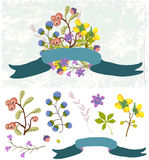 Retro flowers, Cute floral bouquet Royalty Free Stock Photo