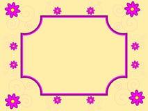 Retro Flowers Frame Royalty Free Stock Photo
