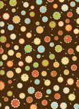 Retro flowers pattern Royalty Free Stock Image