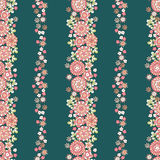Retro flowers pattern Royalty Free Stock Photo