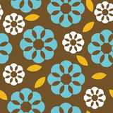 Retro flowers seamless pattern Stock Photo