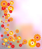 Retro flowers for seasonal designs Royalty Free Stock Images