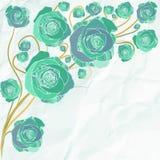 Retro flowers vector illustration Stock Photo