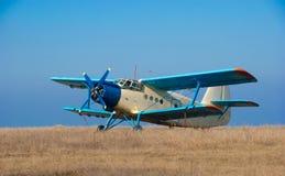 Retro- Flugzeug stockbild