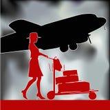 Retro- Flugzeugverkehr Stockfotos