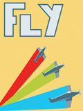 Retro fly poster Stock Photos