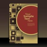 Retro Flyer or Cover Design Stock Photography