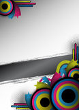 Retro flyer design Stock Images