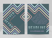 Retro flyer template A4 size. Business brochure, cover design or corporate banner in vintage style. Stock Photos
