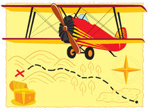 retro flygplan Arkivbild