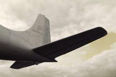 Retro flygplanfoto Arkivbilder