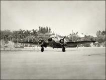 retro flygplanpropeller Arkivbild