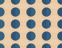 Retro fold blue circles on waves Royalty Free Stock Photography