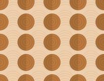 Retro fold brown circles on bulging waves Stock Images
