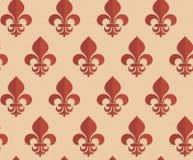 Retro fold brown Fleur-de-lis Stock Photo